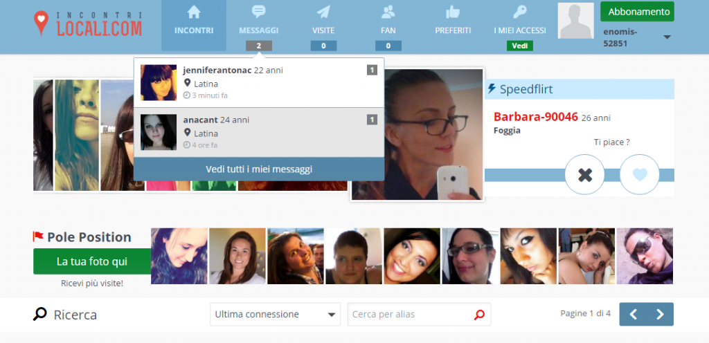 Chat per single online