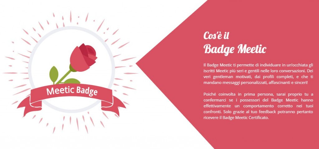 cos'è il meetic badge