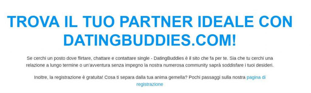 datingbuddies esperienze